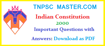TNPSC: Important Questions of Indian Constitution Tamil and