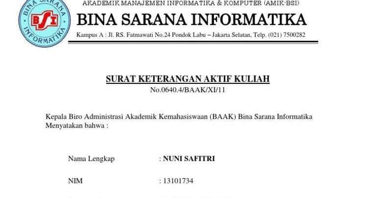 Contoh Surat Rekomendasi Kuliah S1