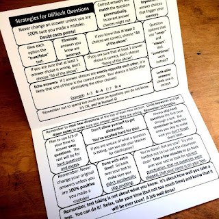 test taking strategies foldable for staying confident