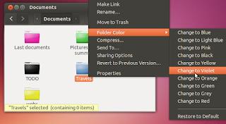 Folder Color Ubuntu Linux trikovi