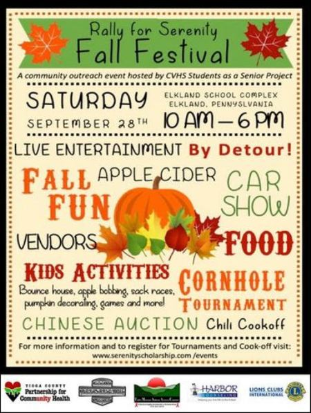 9-28 Vendors wanted for Fall Festival