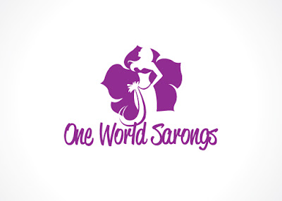 one world sarongs logo design