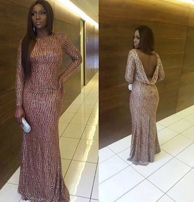 Genevieve Nnaji at the red carpet AMVCA 2016