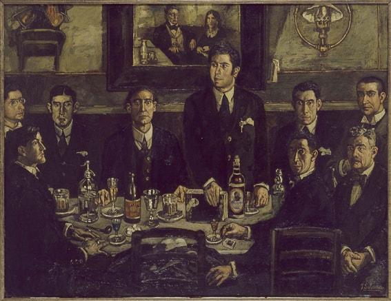 La tertulia del cafe Pombo. Jose Solana. Museo Reina Sofia