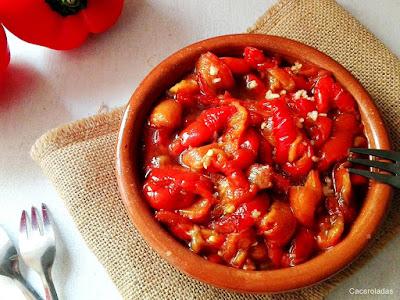 ensalada de pimientos rojos asados