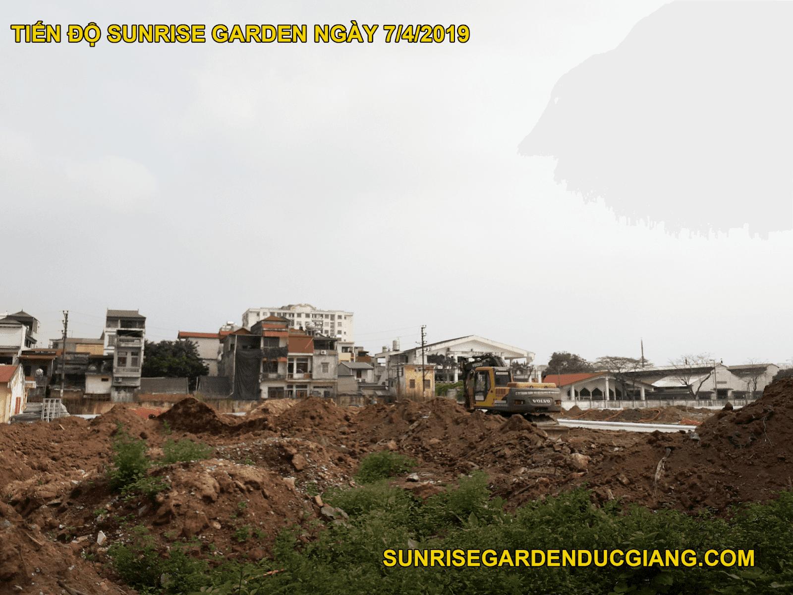 Tiến độ Sunrise Garden ngày 7/4/2019.