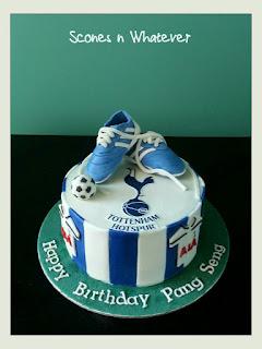 Scones N Whatever: Tottenham Hotspur theme cake