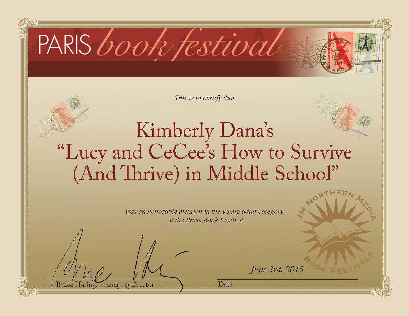 Young Adult Award - Paris Festival of Books