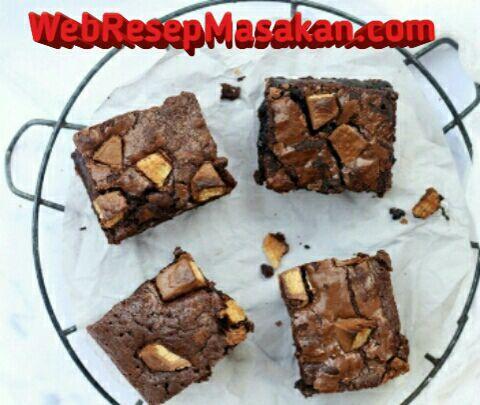 Brownies kitkat, Resep Brownies KitKat, Cara membuat brownies kitkat,