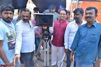 Bhimbika in Red Orange Saree at Sikhandi Movie Launch Spicy Pics 8.jpg