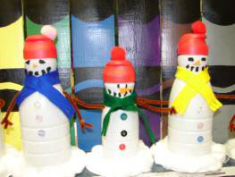 Better Budgeting: Coffee Creamer Bottles: Snowmen
