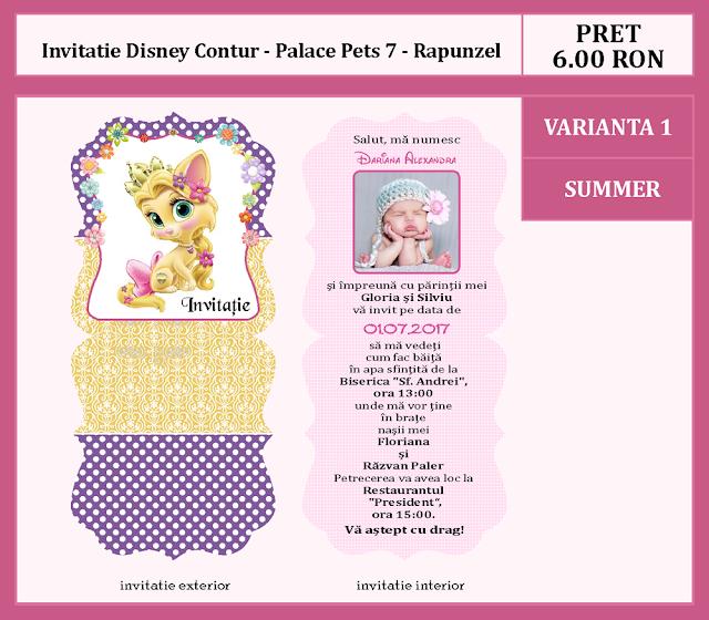 invitatii botez contur Palace Pets 7