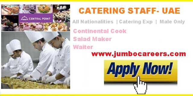 catering staff required for dubai with free visa