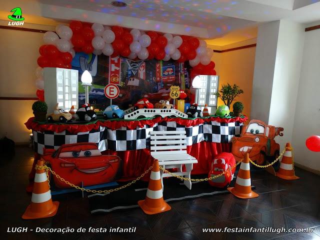Decoração tema Carros (Disney) para festa de infantil de meninos - Barra da Tijuca (RJ)
