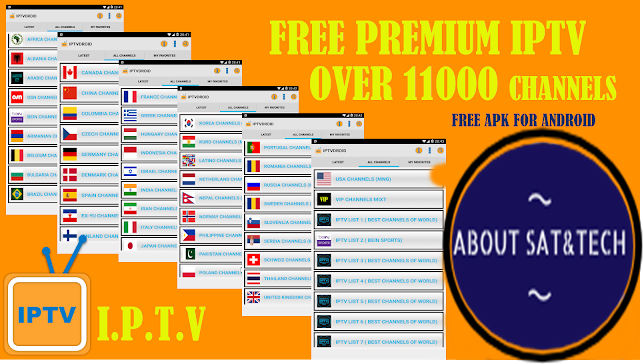IPTV APK : WATCH OVER 11000 CHANNELS + PREMIUM CHANNELS OF