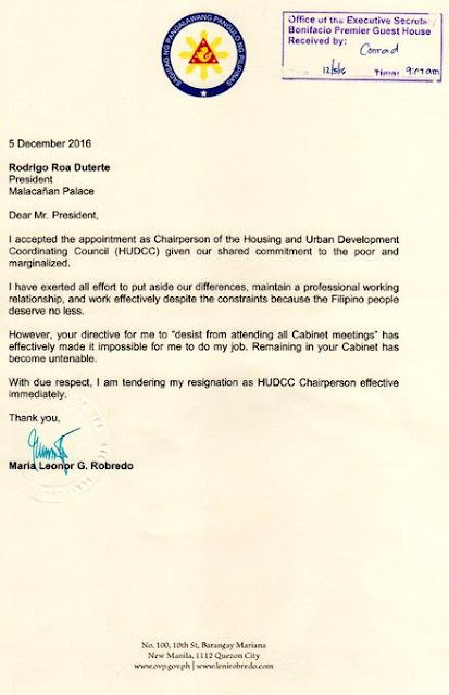 Read Here: Why Leni Robredo Resigned As Housing Secretary