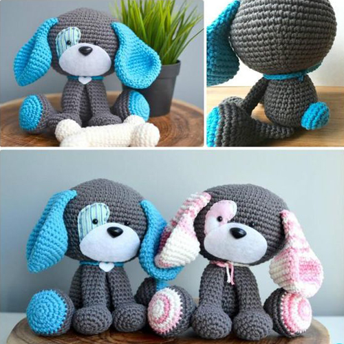Crochet Amigurumi Puppy Dog Stuffed Toy - Free Patterns