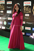 Monal Gajjar in Maroon Gown Stunning Cute Beauty at IIFA Utsavam Awards 2017 060.JPG