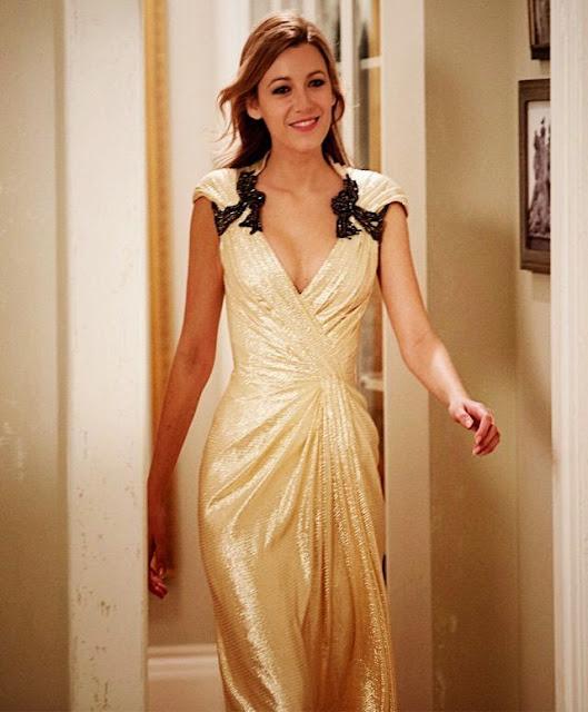 A incrivel história de Adaline (Blake Lively), vestido dourado figurino