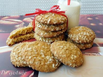 Ciasteczka chałwowo-owsiane (z chałwą)