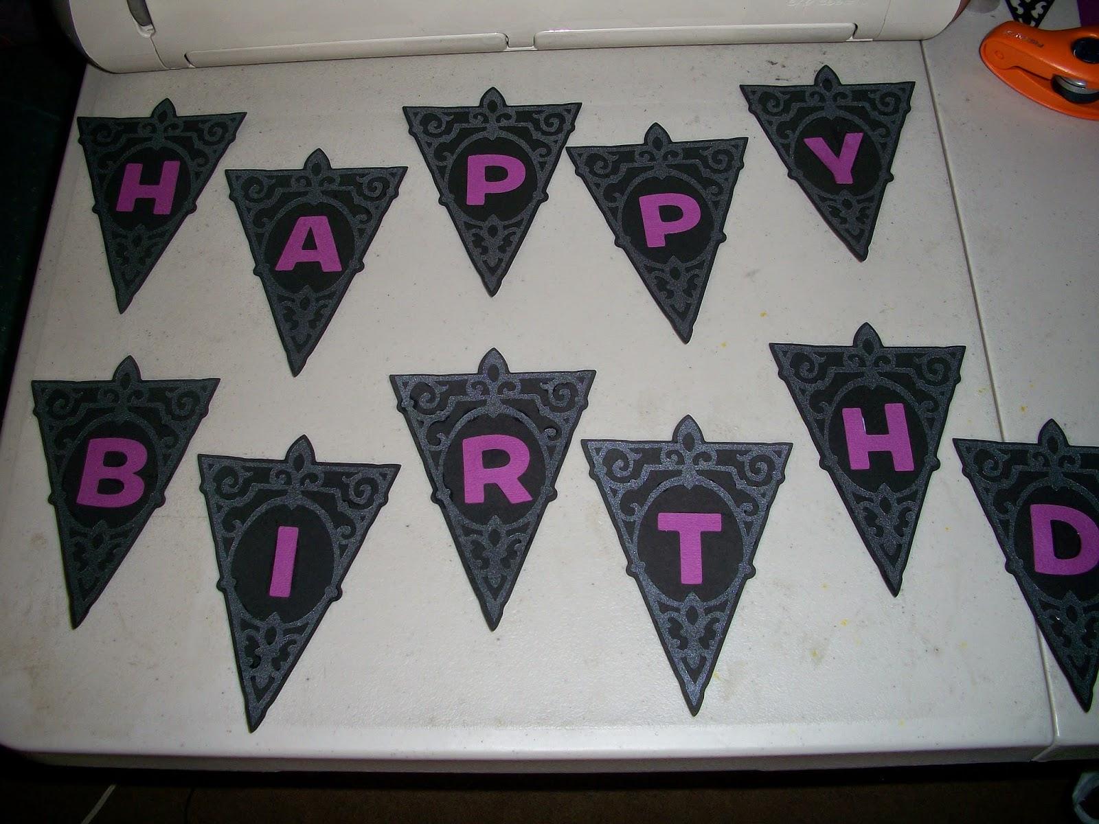 DIY: Gothic style birthday banner