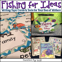 Fishing for Ideas Writing Topic Cards and Tools for Your Sea of Writers