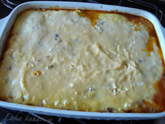 Greek moussaka by Laka kuharica: Remove moussaka from the oven and let it set at room temperature