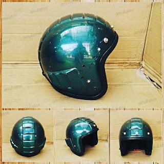 Helm Robot Ijo/ Cakil Royo-Royo