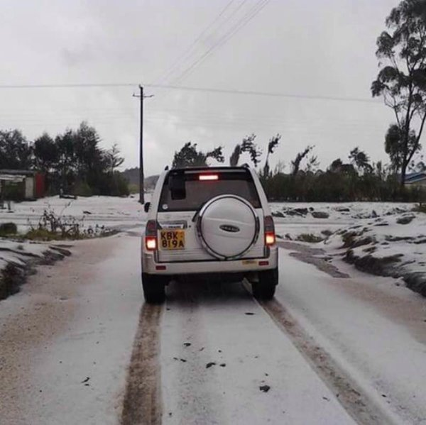 Snow in Kenya. PHOTO | FILE