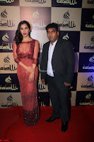 Actress Sophie Choudry in Transparent Red Dress (6).JPG