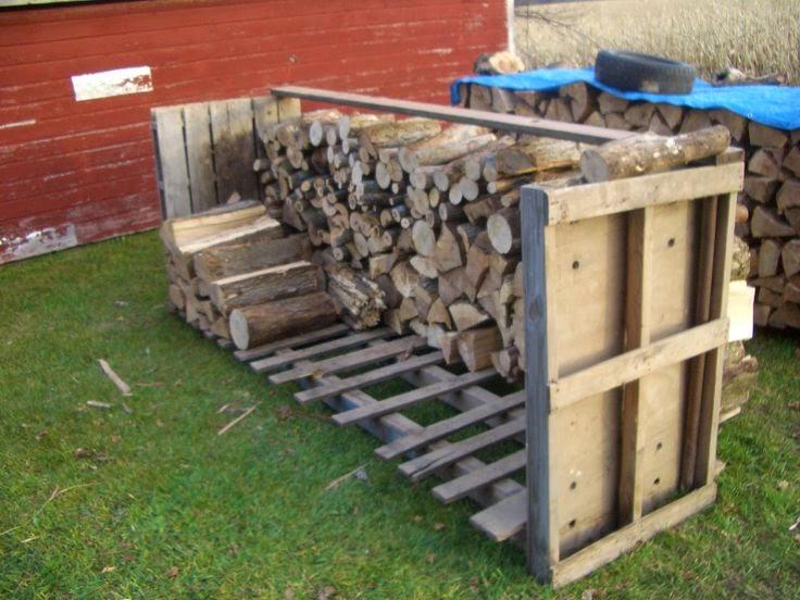 Home garden 70 nouvelles id es pour recycler des palettes for Stockage bois de chauffage exterieur