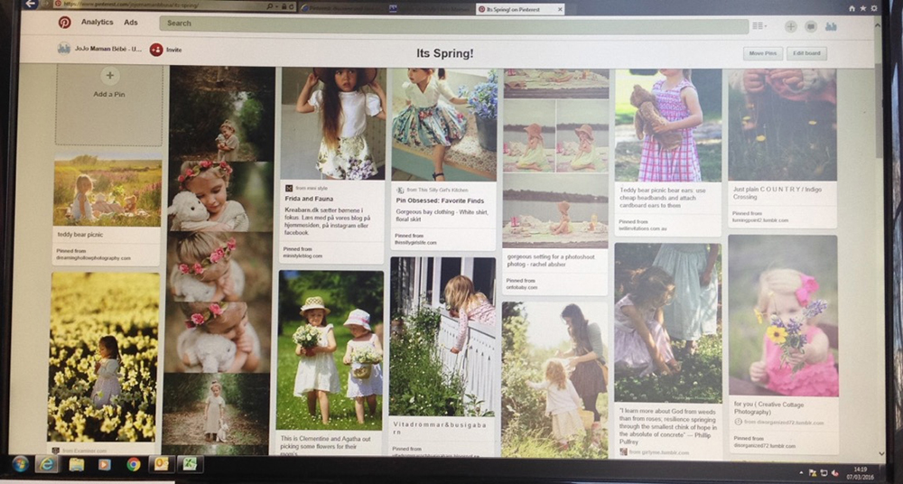 pinterest spring board inspiration for jojo maman bebe