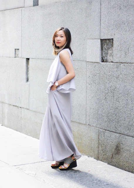 How to Look Sophisticated Two-Piece with Wide Pants