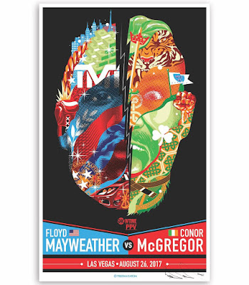 Floyd Mayweather Jr. vs Conor McGregor Boxing Match Fight Poster Screen Print by Tristan Eaton