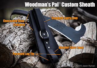 Custom leather knife sheath gerber leatherman sog rat ontario dangler woodmans pal woodsmans pal