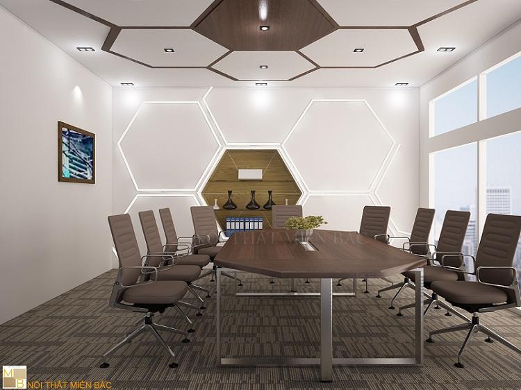 Tư vấn thiết kế phòng họp với bàn họp độc đáo