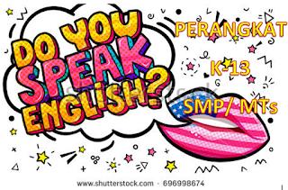 Silabus, Prota, Prosem, RPP Bahasa Inggris lengkap jenjang SMP/MTs Kelas 7/ VII Kurikulum 2013 Revisi 2017