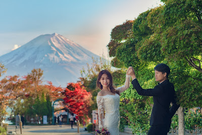 富士山河口湖楓葉婚紗