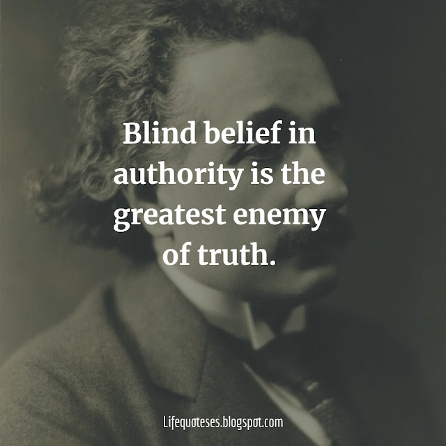 Albert Einstein Quotes abjout truth