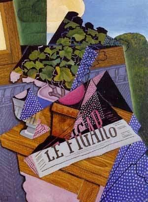 Um Vaso de Gerânios - Técnica de colagem e cubismo nas obras de Juan Gris