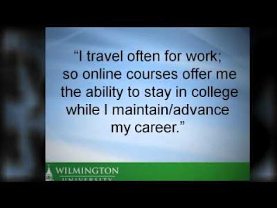 Quotes About University Life: i travel often for work, so online courses offer me