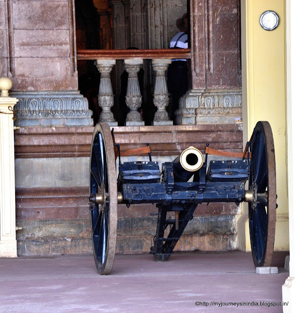 Cannon at Display Mysore Palace