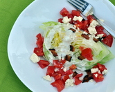 August - Wedge Salad with Homemade Low-Cal & Low-Carb Blue Cheese Salad Dressing