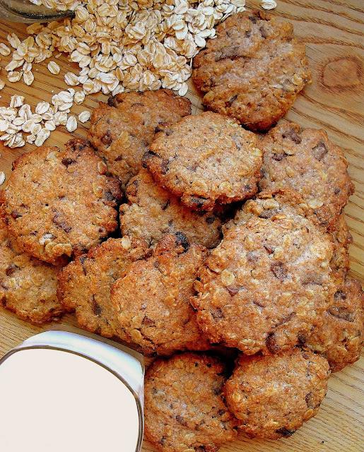Ciasteczka owsiane z czekoladą / Chocolate Chip Oatmeal Cookies