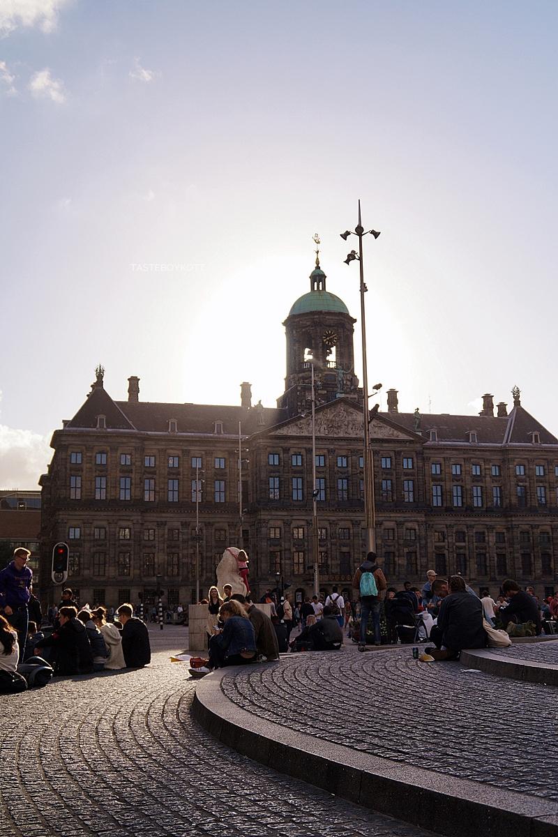 Amsterdam Sommer-Reisetipps | Königspalast zum Sonnenuntergang | Interrail Juli 2017 | Tasteboykott