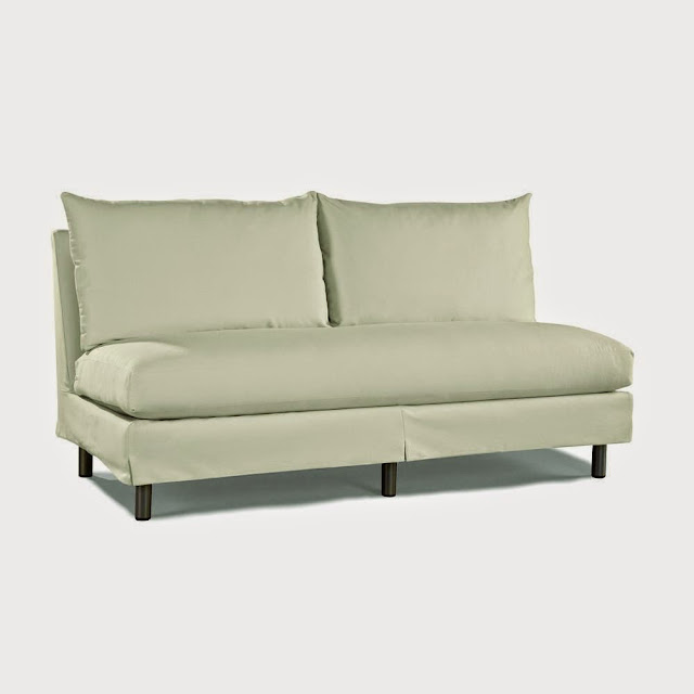 White Minimalist Armless Sofa