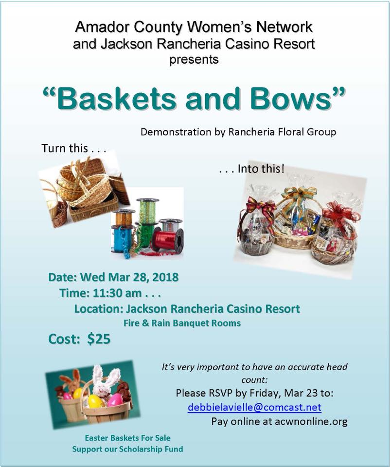 "ACWN's ""Baskets & Bows"" - Wed Mar 28"
