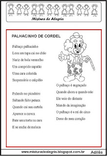 Cordel palhacinho de cordel