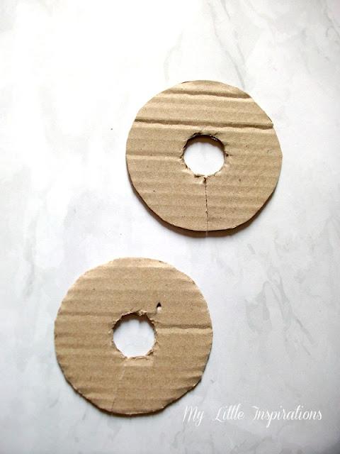 Zucche pom-pom DIY - 2 dischi  - MLI