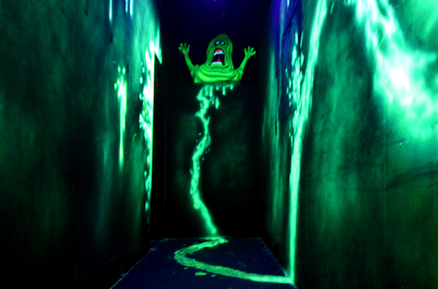 P. Slimer greets you on your journey through the maze.